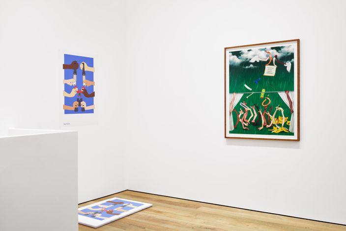 Exhibition view: Darren Bader,Mends of Scott Friendes, Sadie Coles HQ, Bury Street, London (9 July–21 August 2021). Courtesy Sadie Coles HQ, London.