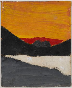 Untitled (Red sunrise, orange sky) by Frank Walter contemporary artwork