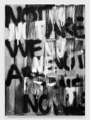 Untitled (WE ARE NOT) by Adam Pendleton contemporary artwork