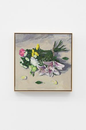 A Bouquet of Fresh Flowers by Ge Yulu contemporary artwork painting, sculpture