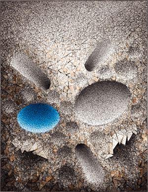 Aggregation 08 - JL016 Blue by Chun Kwang Young contemporary artwork