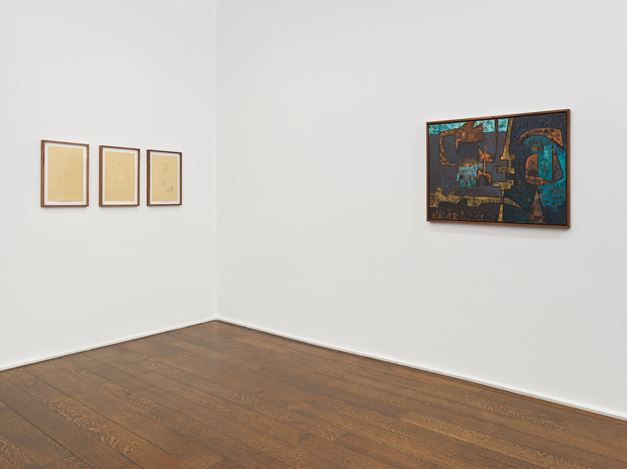 Exhibition view: Luchita Hurtado, Dark Years, Hauser & Wirth, 69th Street, New York (31 January–6 April 2019). Courtesy the artist and Hauser & Wirth.