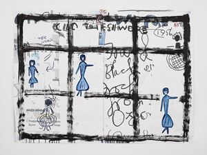 Clothes I Wore #22 by Rose Wylie contemporary artwork