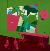 Wetland buffer zones by Huhana Smith contemporary artwork painting