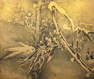 Bamboo in Snow No. 1 《雪竹圖之一》 by Zheng Li contemporary artwork