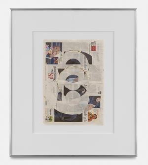 Blind Collage (Three 180° Rotations, de Standaard, Tuesday, September 3 by Walead Beshty contemporary artwork