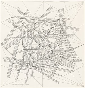 Location of lines n°1-5 by Sol LeWitt contemporary artwork