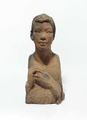 Bust of a Girl by Kwon Jink Kyu contemporary artwork