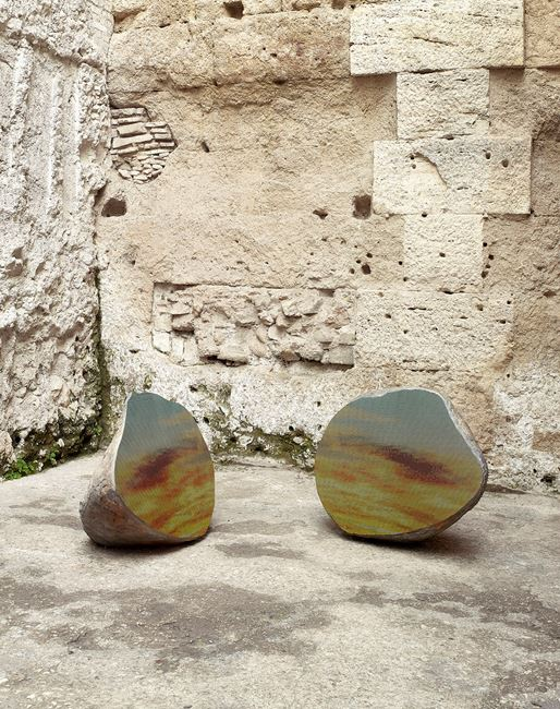 Split Stone (7:34) by Sarah Sze contemporary artwork