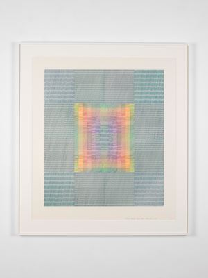 Canon Eleven Moiré Three by Channa Horwitz contemporary artwork