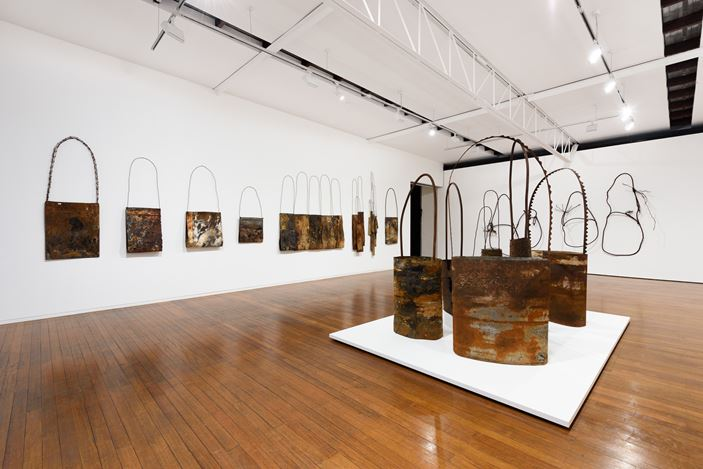 Exhibition view: Lorraine Connelly-Northey, Narrang-Galang, Roslyn Oxley9 Gallery, Sydney (21 February–16 March 2019). Courtesy Roslyn Oxley9 Gallery.