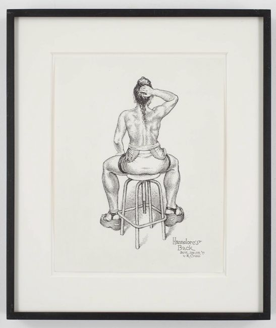Hannelore's Back by R. Crumb contemporary artwork