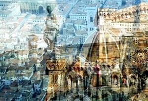Firenze (dal cielo con Duomo) by Davide Bramante contemporary artwork