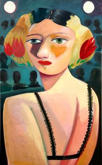Woman on Stage by Danielle Orchard contemporary artwork painting