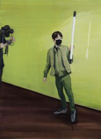 Light Man by Jina Park contemporary artwork painting
