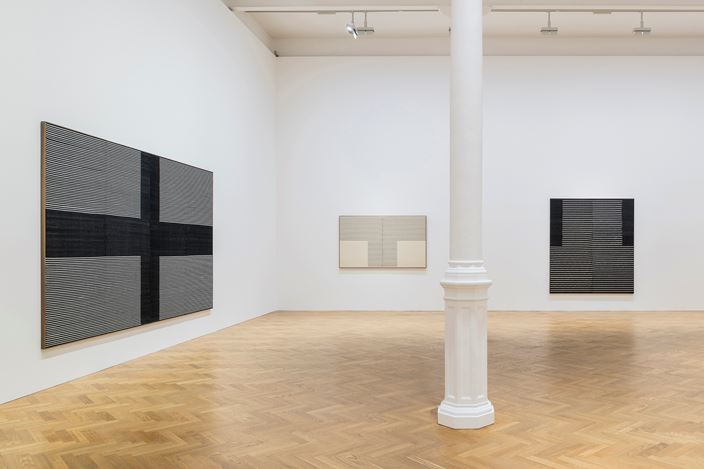 Exhibition view: Brent Wadden, sympathetic resonance,Pace Gallery, London (22 November 2018–11 January 2019). Courtesy Pace Gallery.