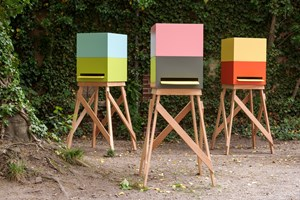 Maisons des Abeilles (Entwurd Sauerbruch Hutton, I, II, III) by Olaf Nicolai contemporary artwork