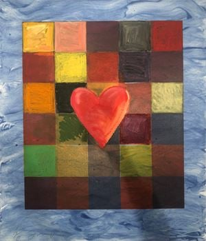 The Sea Behind by Jim Dine contemporary artwork