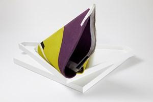 Folded Purple/Green by Lynne Eastaway contemporary artwork