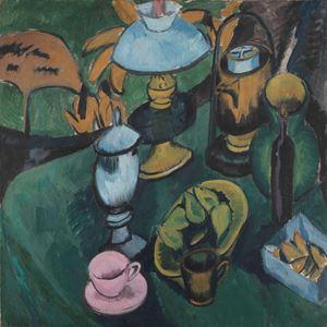 Stilleben mit Lampe by Ernst Ludwig Kirchner contemporary artwork