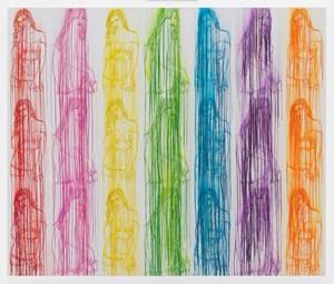 Rainbow Lulu by Ghada Amer contemporary artwork