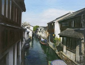 A Canal Town South of the Yangtze (3) by Mi Qiaoming contemporary artwork