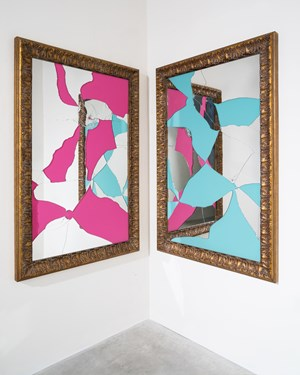 Two Less one colored by Michelangelo Pistoletto contemporary artwork