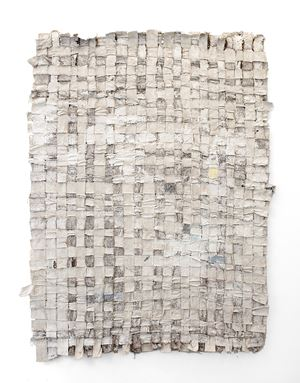 Untitled (Hessian and Canvas) I by Jodie Carey contemporary artwork
