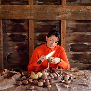 Portrait with Potatoes by Marina Abramović contemporary artwork