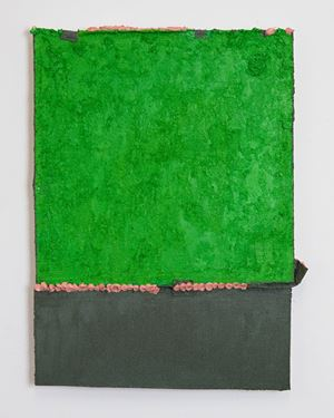 Untitled (green with pink) by Louise Gresswell contemporary artwork