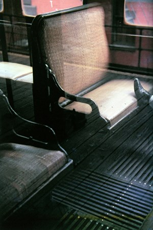 Foot on El by Saul Leiter contemporary artwork