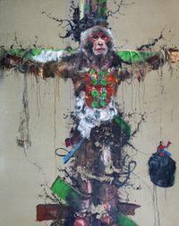 The Tied Sun Wu Kong #1 被束縛的孫悟空(一) by Li Tianbing contemporary artwork painting