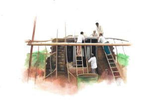How to save a monument from a Dam / Two Studies by Sahil Naik contemporary artwork