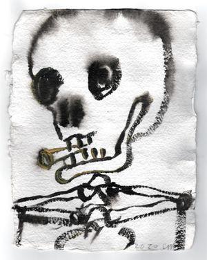 Smoker by Chris Martin contemporary artwork painting