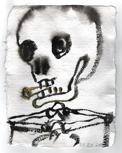 Smoker by Chris Martin contemporary artwork