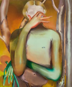Hand Over Eyes by Elizabeth Glaessner contemporary artwork