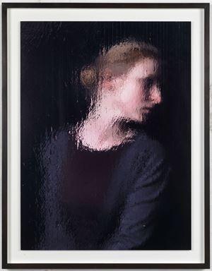 «Alicja derriere le tableau « Le Miroir / Miroir» regardant» by Gregor Hildebrandt contemporary artwork