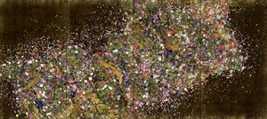 Ever Blossoming Life II – A Whole Year per Hour, Gold by teamLab contemporary artwork