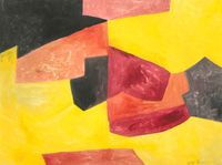 Composition abstraite by Serge Poliakoff contemporary artwork works on paper