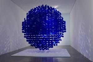 Sphère Bleue by Julio Le Parc contemporary artwork