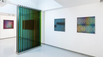 Contemporary art exhibition, Carlos Cruz-Diez, Hommage à la couleur at galerie Denise René, Espace Marais, Paris