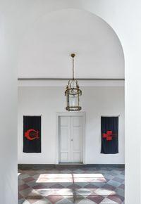 Lyres by Ian Hamilton Finlay contemporary artwork sculpture