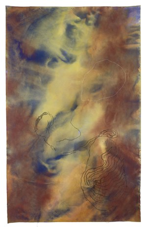 drawing on ochre and blood by Judy Watson contemporary artwork