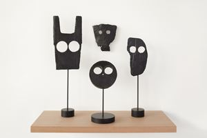 Untitled (Mask Group) I by Peter Liversidge contemporary artwork