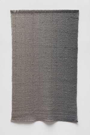 Woven Vertical Linear Gradient as Weft (Left to Right, Gray) by Analia Saban contemporary artwork