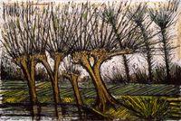 Saules pres de letang by Bernard Buffet contemporary artwork painting