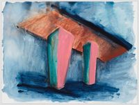 untitled: underpass; 2020 by Phyllida Barlow contemporary artwork painting, works on paper