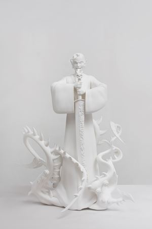 Against the blade of honour - Guru by Tianzhuo Chen contemporary artwork sculpture