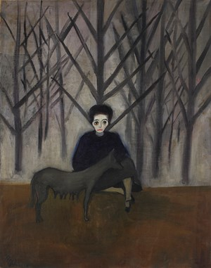 Nadya and the Wolf by Alice Neel contemporary artwork