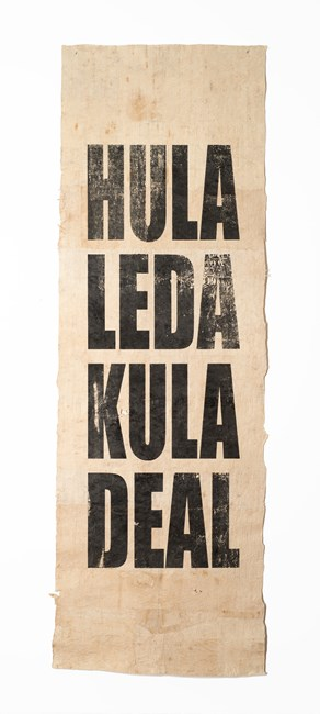 Untitled (HULA/LEDA/KULA/DEAL) by Newell Harry contemporary artwork